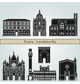 Siena landmarks and monuments vector image