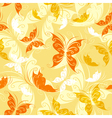 Seamless from color butterflies vector image