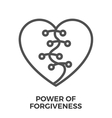 Power of forgiveness vector image