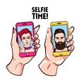 Selfie Time Sketch Set vector image