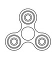 Fidget spinner outline technical drawing icon vector image