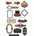 set of 12 logo or label frames vector image