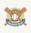 Baseball Lover vector image