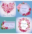spring banners with beautiful sakura flowers vector image vector image