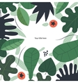 Green leaves template vector image vector image