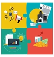 Business services support and news vector image
