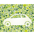 Green car with eco icons set vector image