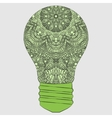 Isolated patterned lamp on a gray background The vector image