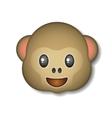 Monkey emoticon icon logo symbol vector image
