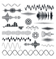 Seamless Sound Waves Set Audio equalizer vector image