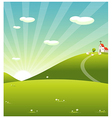 Sheep Grazing vector image