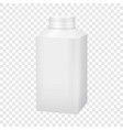 White blank plastic bottle with cap mockup vector image