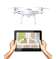 1602i040012Fm003c7drones realistic isolated vector image