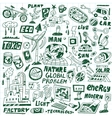 ecology - doodles set vector image vector image