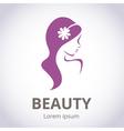 Abstract logo for beauty salon vector image