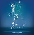 Doodle Map of United Kingdom vector image