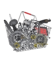 Many images of spare parts vector image