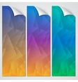 abstract paper banner set vector image