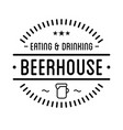 black logo beer house label template vector image