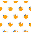 bright summer juicy peach cartoon seamless pattern vector image