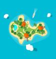 cartoon color island in ocean vector image