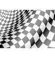 checkered flag waved sport race chapmpionship vector image