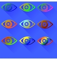 Colored Eye Icon vector image