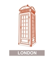 Drawing of Red Booth vector image