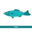 fish icon vector image