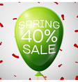 Green Balloon with 40 percent Discounts SALE vector image