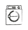 monochrome blurred silhouette of wash machine vector image
