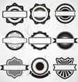 Vintage Badge Labels Template vector image