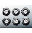 web grey buttons vector image