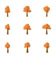 tree set various vector image