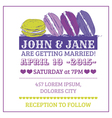 Wedding Invitation Card - Macaroon Theme vector image