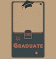 2018 graduate photo frame retro style black and vector image