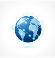 Network globe icon vector image