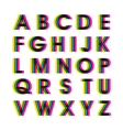 Colorful Alphabet Set vector image