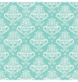 Turquoise vintage wallpaper vector image vector image