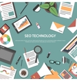 Search engine optimization web concept vector image vector image