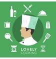 Chief cook icons vector image