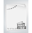 Letter paper vector image vector image