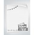Letter paper vector image