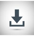 Blue arrow download vector image