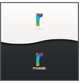 letter R logo alphabet mosaic icon set background vector image