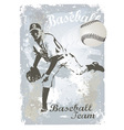 base ball grunge 3 vector image vector image