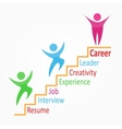 Creative colorful career path vector image