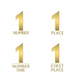 Number one symbols vector image