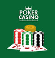 poker casino club cards chips dollar game concept vector image