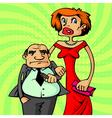 rich happy couple vector image